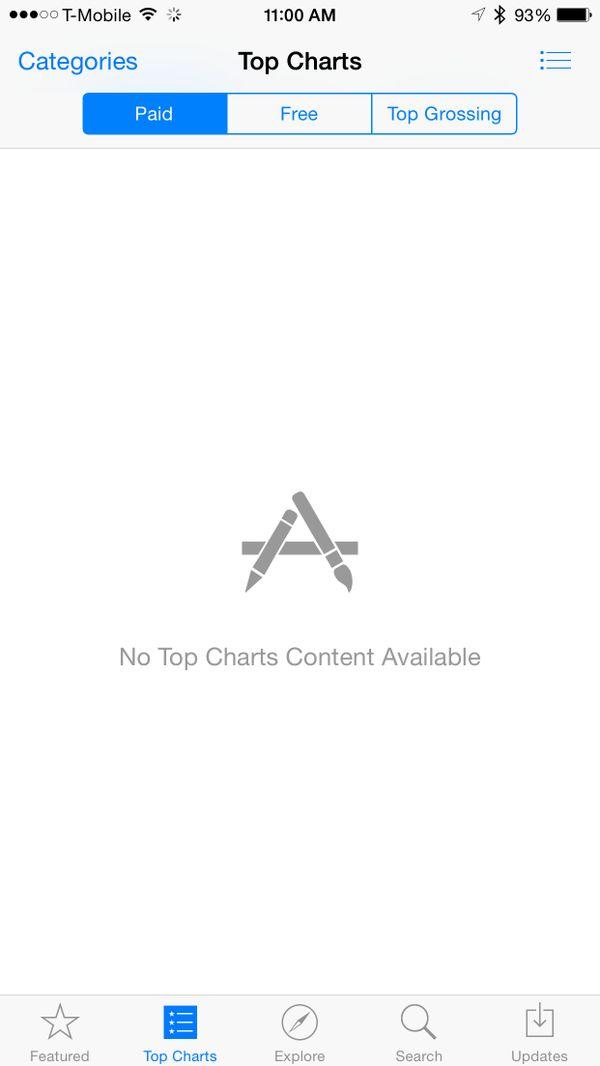 App Store Service Unavailable Error