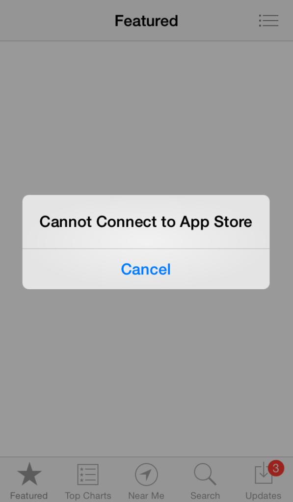 app store is down