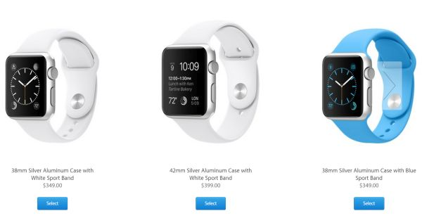Apple Watch $349 Sport Models