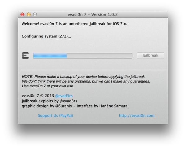 Configuring System (2/2) Error During iOS 7 Jailbreak with Evasi0n
