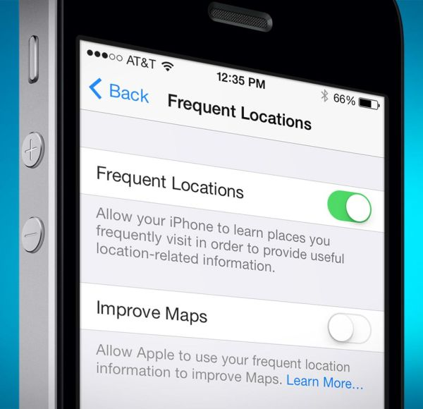 disable frequent locations iphone