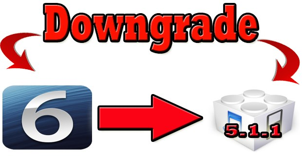 downgrade iOS 6 firmware
