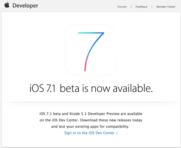 download ios 7.1 beta