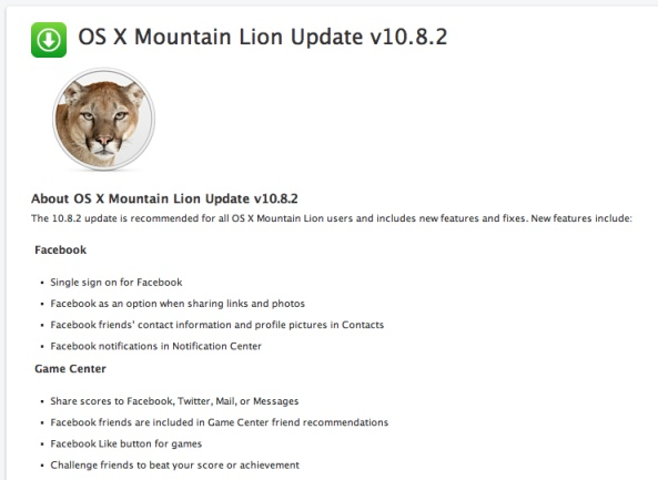 Apple Release Official Mountain Lion OS X 10.8.2 To The Public | Download