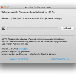 Evasi0n 7 App version 1.0.0 for Mac OS X
