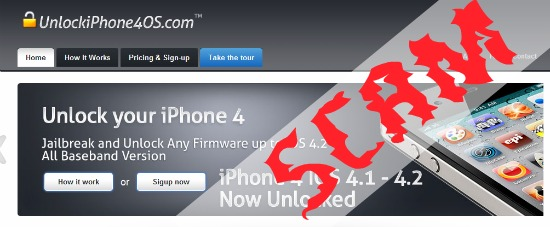 fake iphone unlock sites