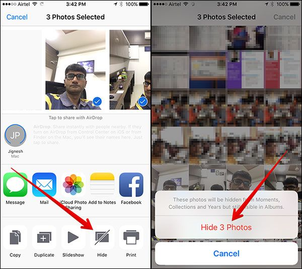 iOS 10 How to Hide and Unhide Photos