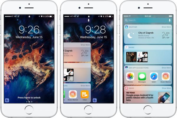 iOS 10 Lock Screen Features Changes