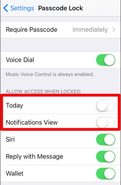 iOS 10 Lock Screen Access Notifications