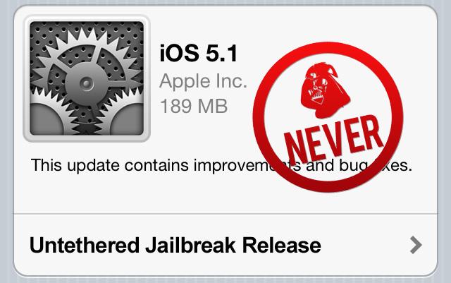 iOS 5.1 Untethered Jailbreak Release 1