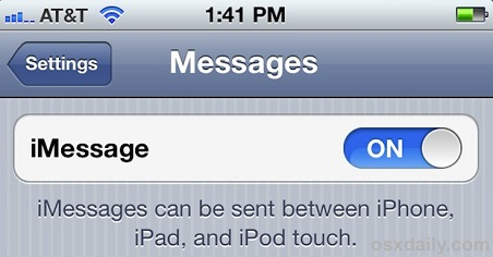iOS 6 imessage activation