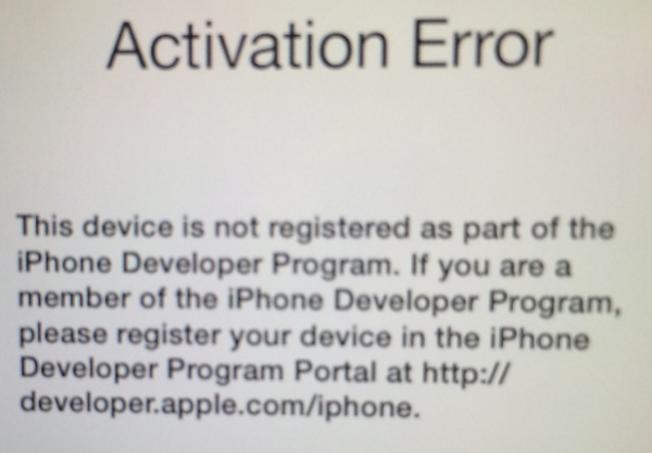 iOS 7 activation problem