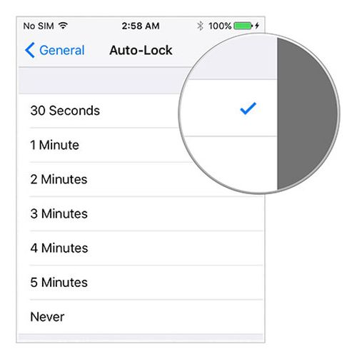 iOS 9 Auto-Lock Feature