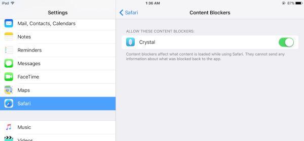 iOS 9 Block Ads Safari Feature iPhone