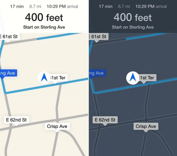 iOS 9 Maps App Night Mode Enable Day Night Jailbreak Tweak
