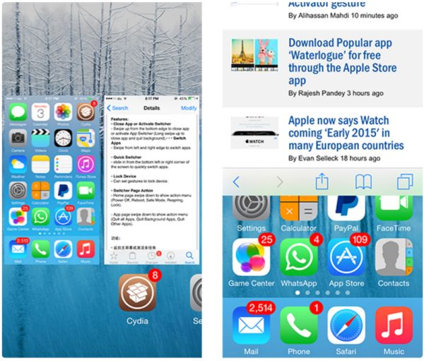iOS 9 Multitasking Jailbreak Tweak