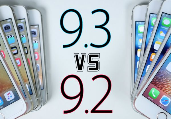 iOS 9.2 vs iOS 9.3 Compare Speed Test
