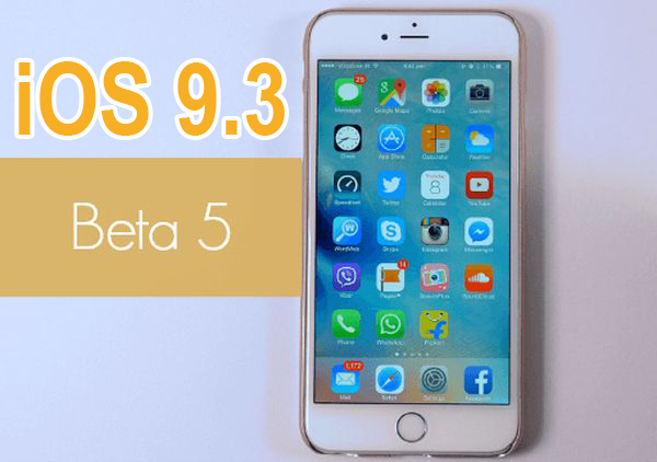 iOS 9.3 Beta 5 Release Update Download iPhone