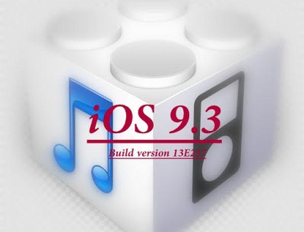 iOS 9.3 Update Build 13e237