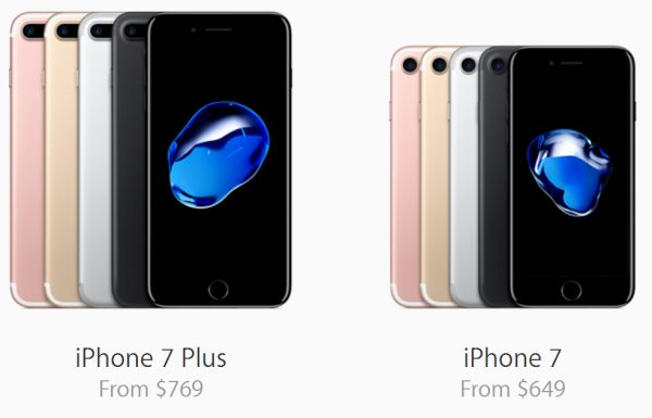 iPhone 7 iPhone 7 Plus Price Apple