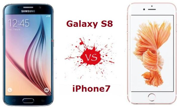 Compare iPhone 7 with New Samsung Galaxy S8