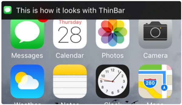 iPhone Notifications in Status Bar iOS 9 Jailbreak Tweak