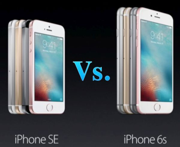 iPhone SE vs iPhone 6s Compare