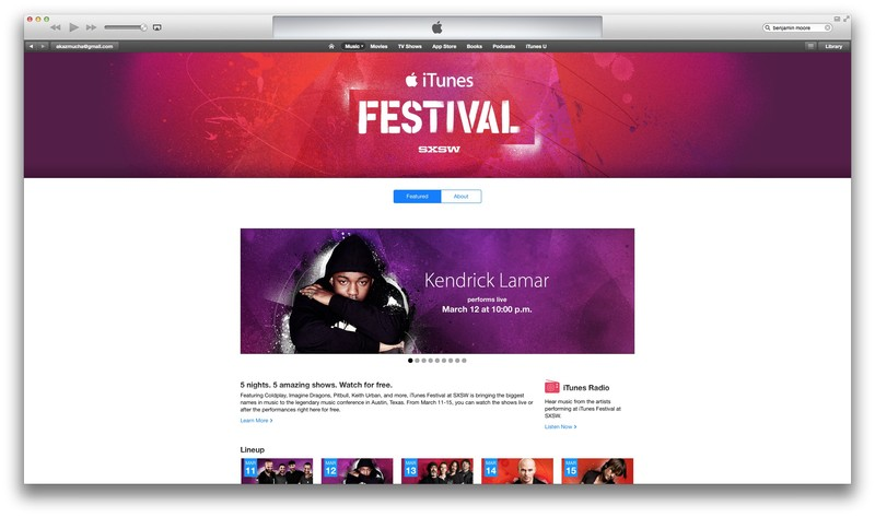 iTunes Festival SXSW App