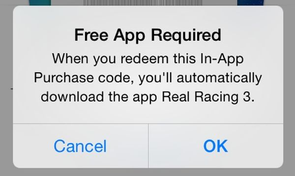in-app purchase promotional code