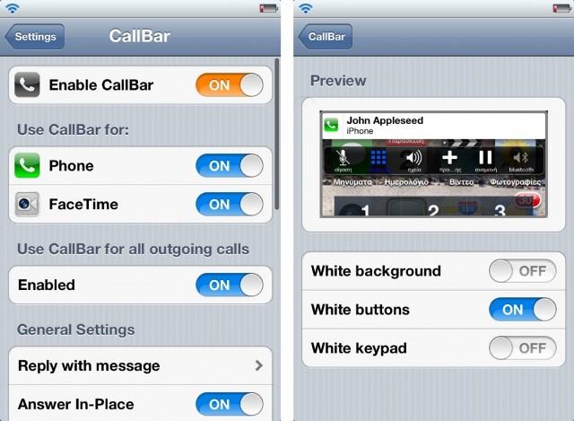 install CallBar Cydia tweak on iOS 7