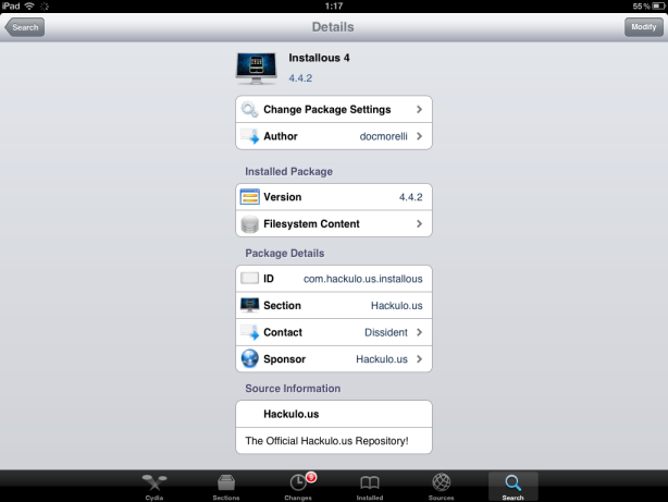 install installous on iPad 3 004