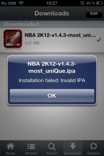 Installous 5 Invalid IPA Error