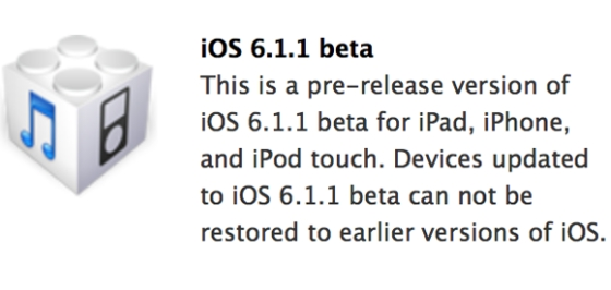 Use Direct Links to Get iOS 6.1.1 Beta 1 Firmware