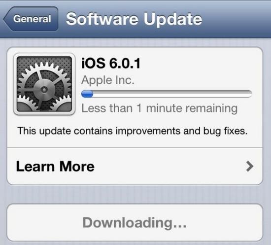 New iOS 6.0.1