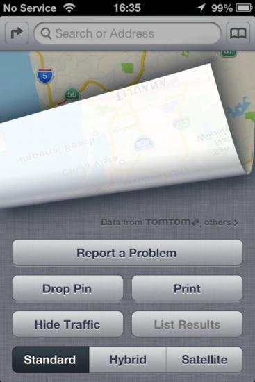 iOS 6.1 Maps App