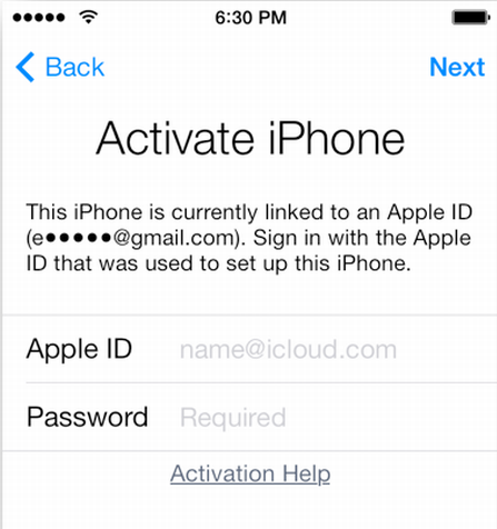ios 7 activation lock bypass