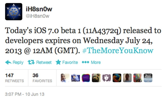 iOS 7 Beta 1 Expires