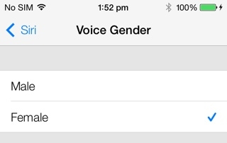 Siri Voice on iOS 7 Beta 2
