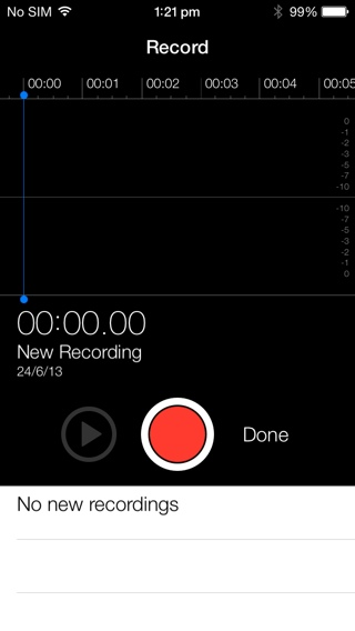 Voice Memos iOS 7 Beta 2