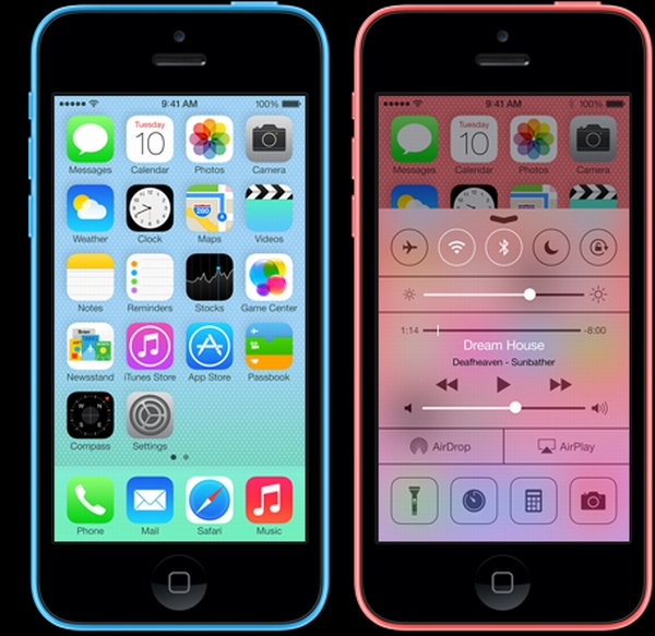 Features on iPhone 5C