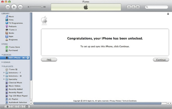 permanent iphone 4 imei unlock