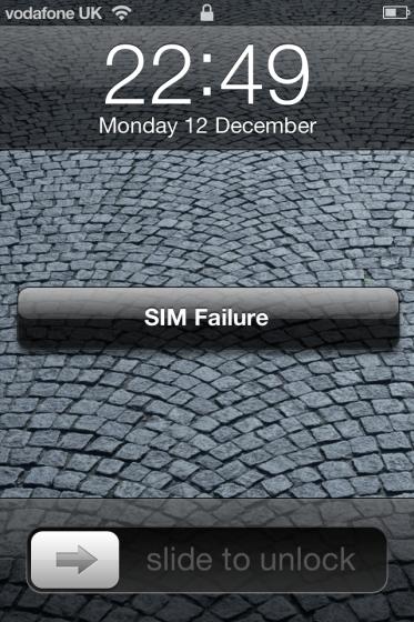 iPhone SIM Failure