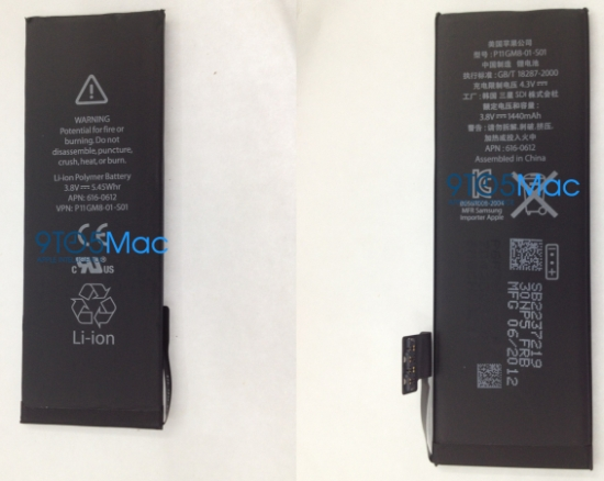 iPhone 5 Battery Pictures