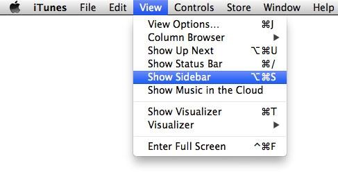 iTunes 11 Show Sidebar