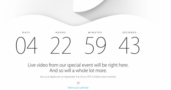 iPhone 6 Live Coverage Announced by Apple for September 9 Media Event