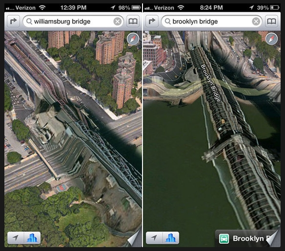 Apple Maps Application Errors