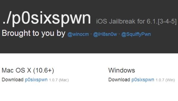 P0sixspwn iOS 6.1.3-6.1.5 Jailbreak