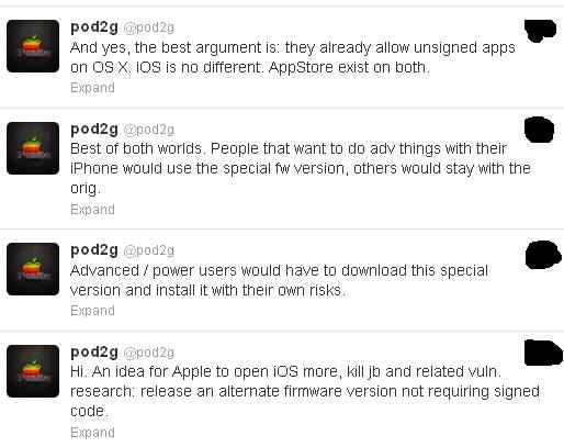 pod2g open ios 7
