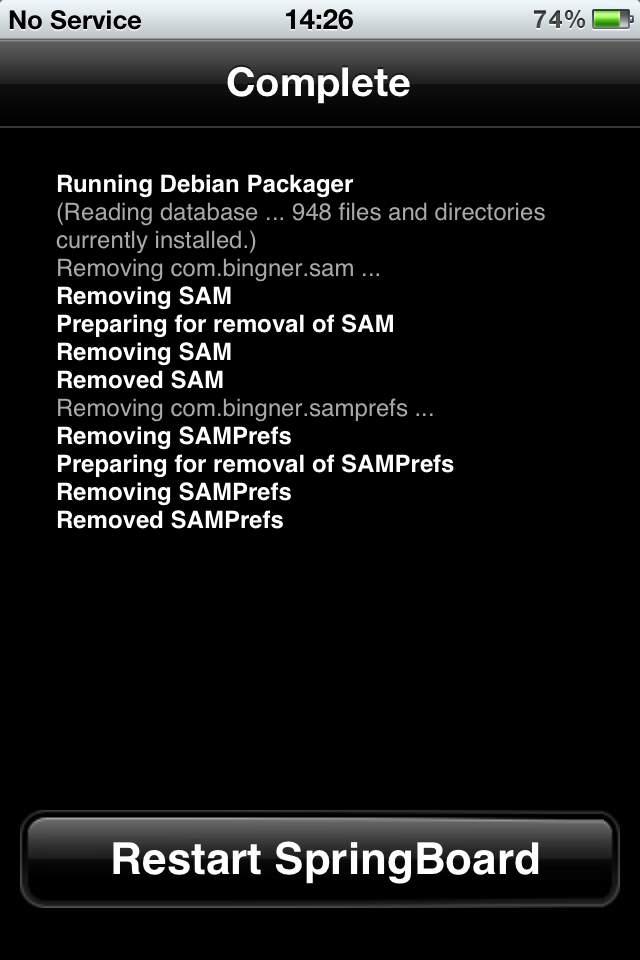 Reboot Cydia after 04.11.08 baseband unlock