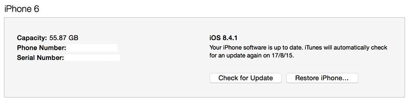 restore to ios 8.4.1